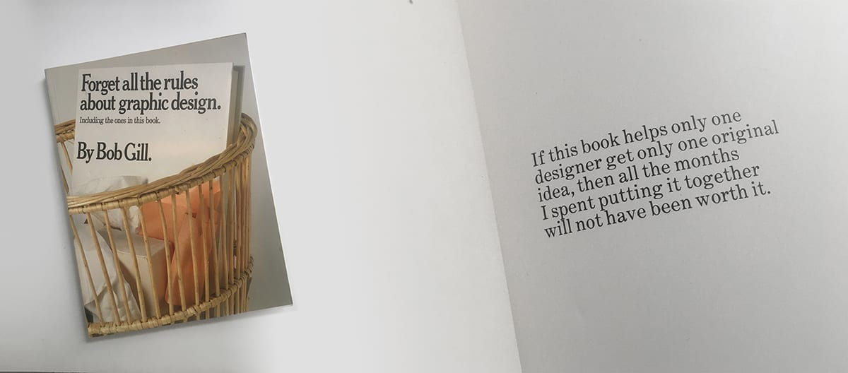 Bob Gill Forget All The Rules - design book