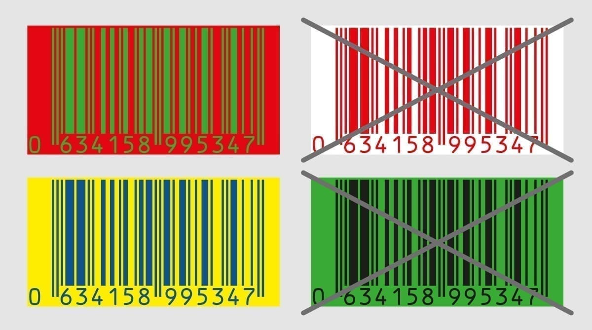 Barcode Illustration colours - barcode
