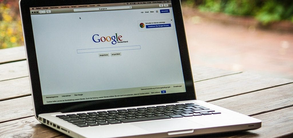 Google on laptop what is SEO - what is seo,design agency,business results
